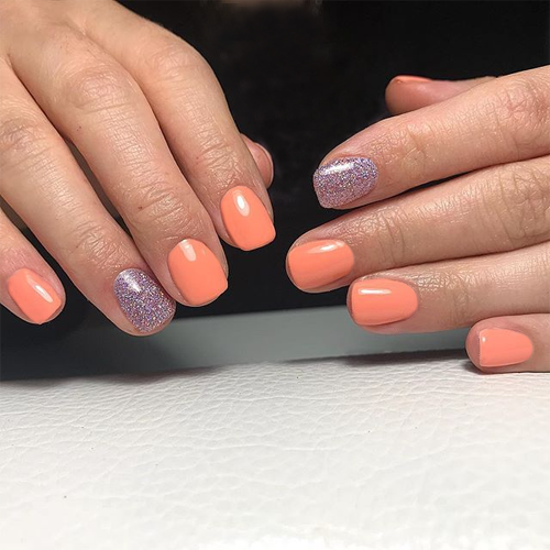 jessica 457 juicy melon фото на ногтях