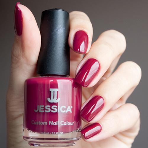 jessica 483 majestic plum фото на ногтях