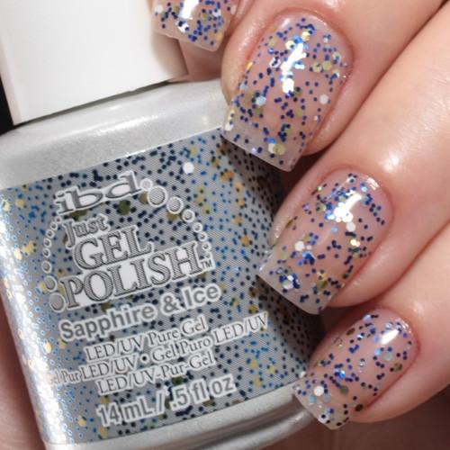 ibd sapphire ice фото на ногтях