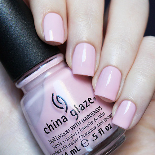 china glaze go go pink фото на ногтях