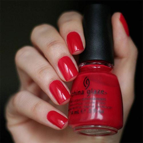 china glaze italian red фото на ногтях