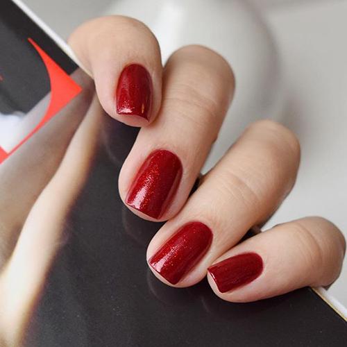 china glaze ruby pumps фото на ногтях