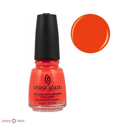 china glaze orange knockout