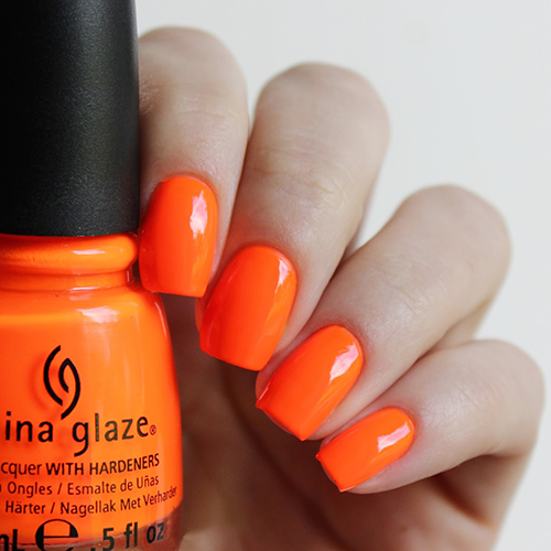 china glaze orange knockout фото на ногтях