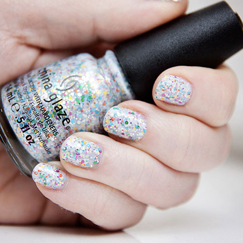 china glaze it's a trap-eze фото на ногтях