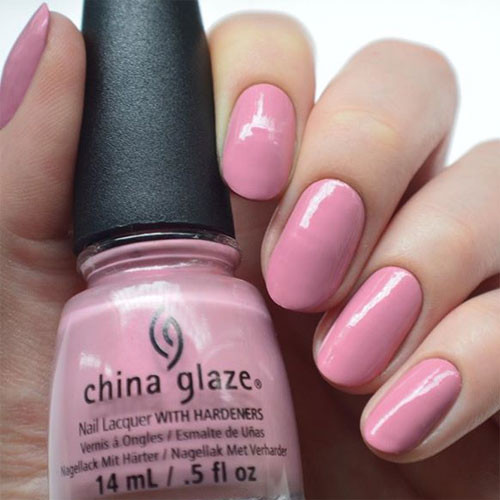 china glaze pink-ie promise фото на ногтях