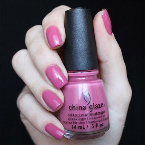 china glaze life is rosy фото на ногтях