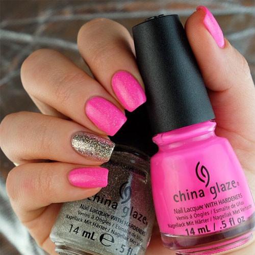 china glaze drive me coconuts фото на ногтях