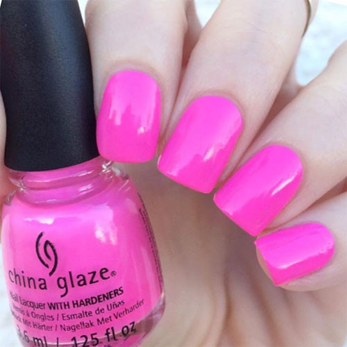 china glaze glow with the flow фото на ногтях