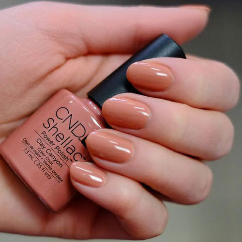 cnd shellac clay canyon фото на ногтях
