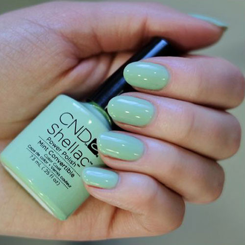cnd shellac mint convertable фото на ногтях