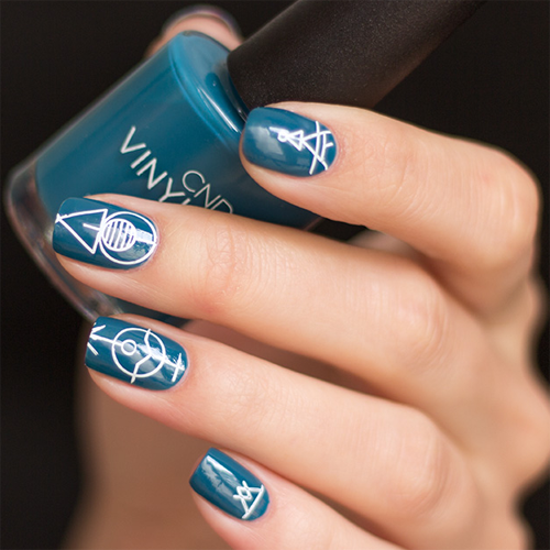 vinylux 247 splash of teal фото на ногтях
