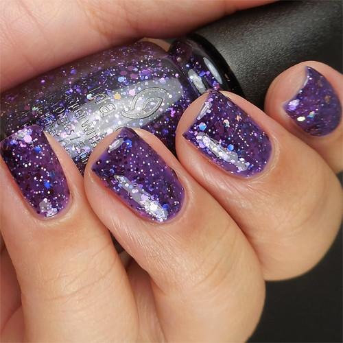 china glaze brand sparklin' new year фото на ногтях