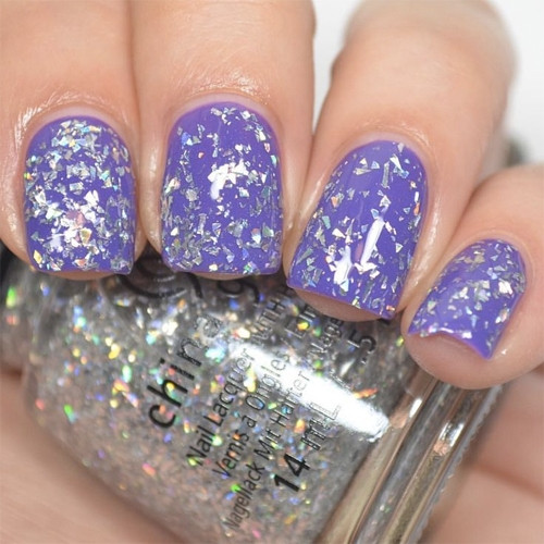 china glaze break the ice фото на ногтях