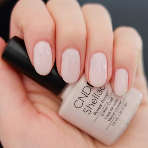 cnd shellac romantique фото на ногтях