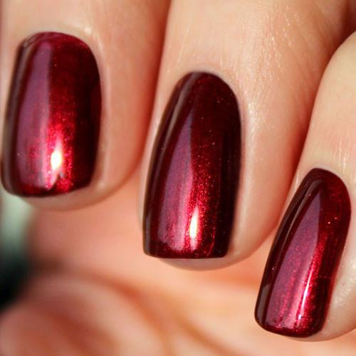 cnd shellac crimson sash фото на ногтях