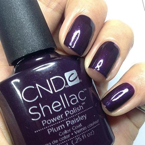cnd shellac plum paisley фото на ногтях