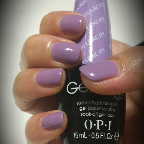 opi gelcolor do you lilac it фото на ногтях