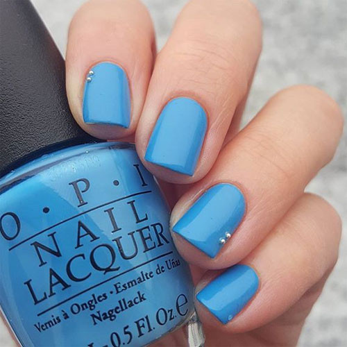 opi gelcolor no room for the blues фото на ногтях фото на ногтях