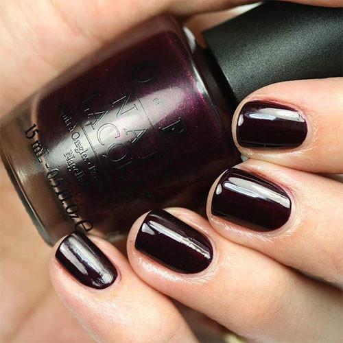 gelcolor black cherry chutney фото на ногтях