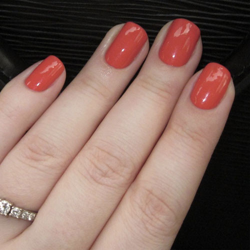 opi gelcolor i eat mainely lobster фото на ногтях