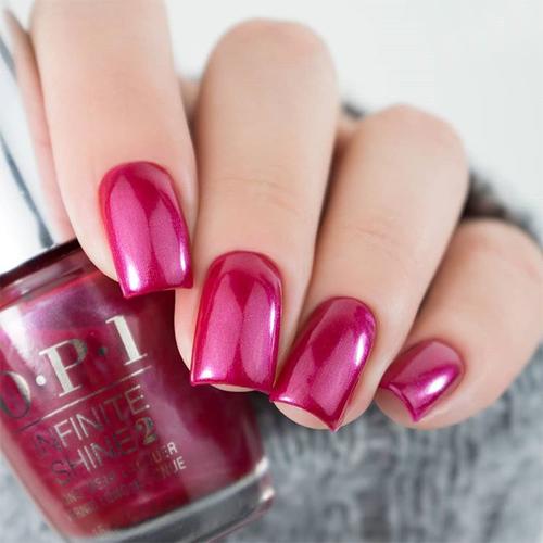 infinite shine peru-b-ruby фото на ногтях