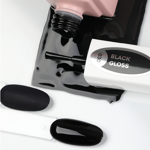 emilac 030 черный глянец 9 мл цвет