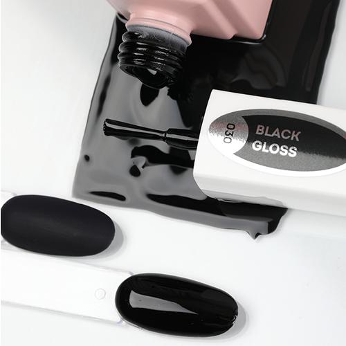 emilac 030 черный глянец 15 мл цвет