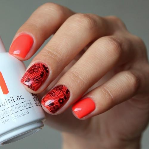 multilac 2612 oriental poppy фото на ногтях