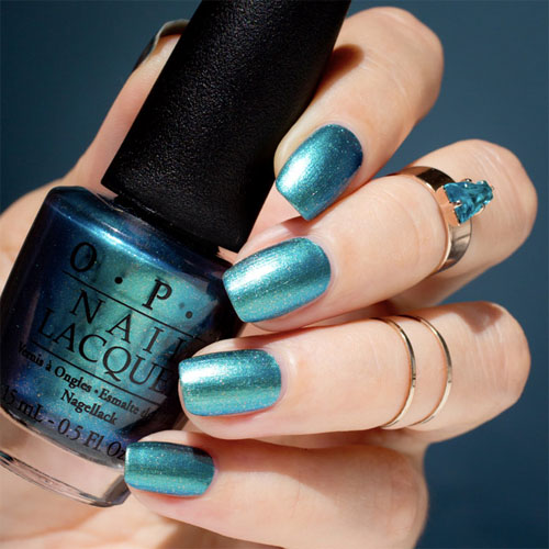 opi this color making waves фото на ногтях