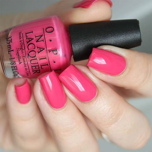 opi strawberry margarita фото на ногтях