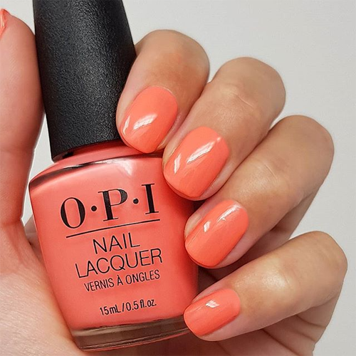 opi orange you a rock star фото на ногтях