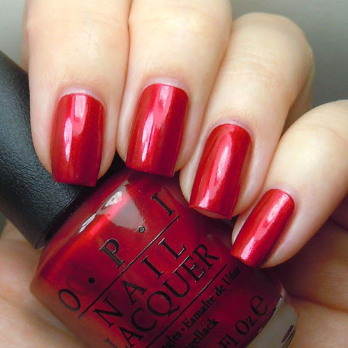 opi an affair in red square фото на ногтях