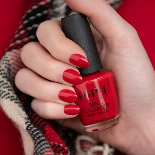 opi red heads ahead фото на ногтях