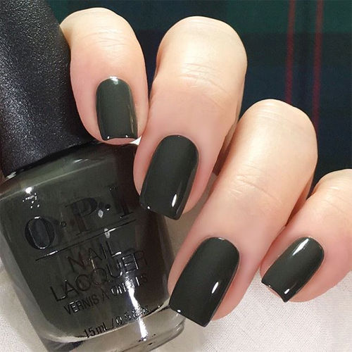 opi things i ve in aber-green фото на ногтях