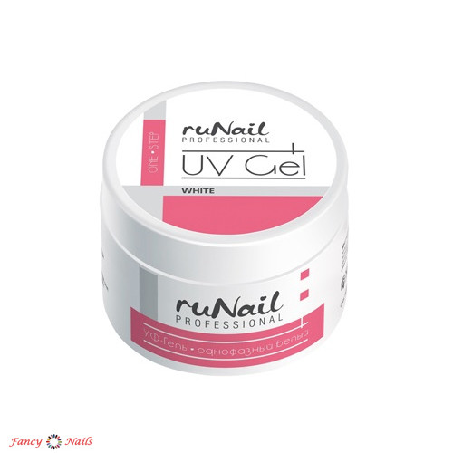 runail one step gel white 15 г