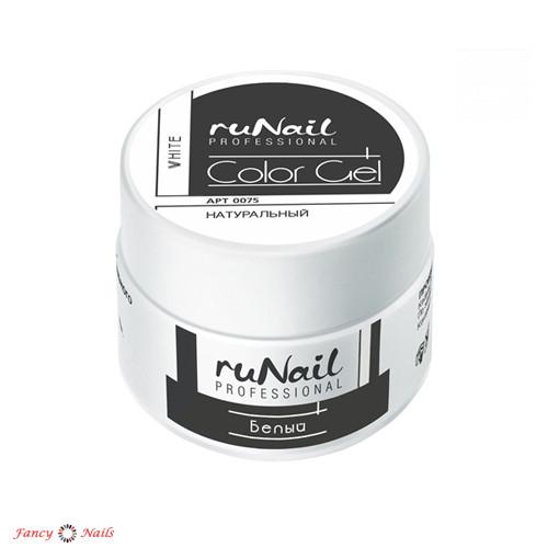runail цветной уф гель белый