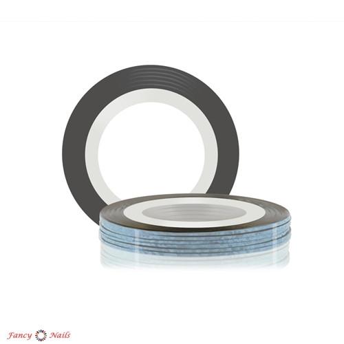лента для дизайна ногтей серебряная голографическая
