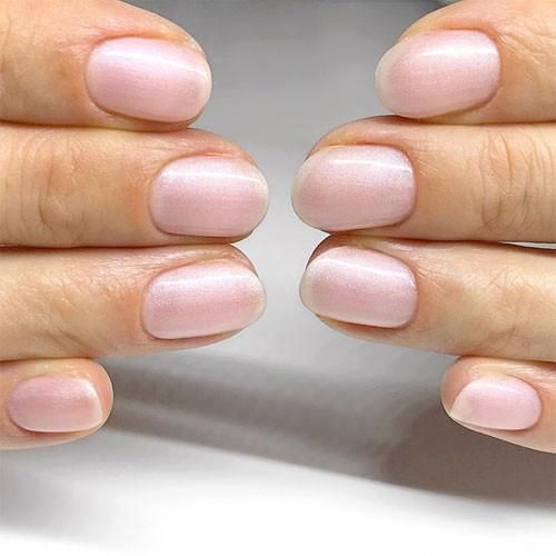 vinylux 150 strawberry smoothie фото на ногтях