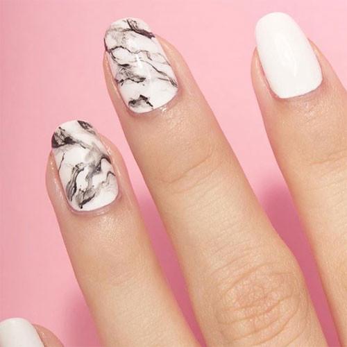 vinylux 151 studio white фото на ногтях