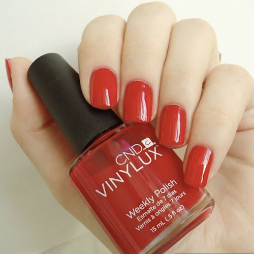 vinylux 158 wildfire фото на ногтях