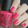 opi charged up cherry фото на ногтях