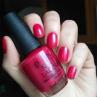 opi california raspberry фото на ногтях
