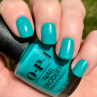 opi dance party teal dawn фото на ногтях