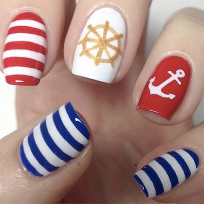 морской дизайн ногтей 1
