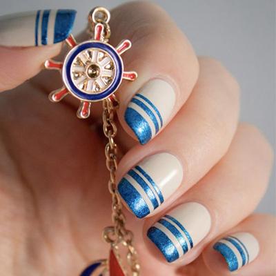 дизайн ногтей на море 2