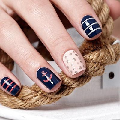 дизайн ногтей на море 3
