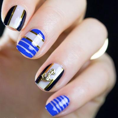 дизайн ногтей на море 4