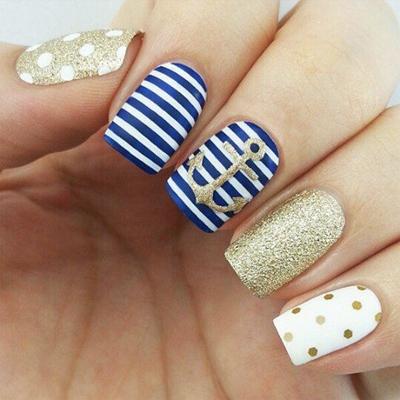 дизайн ногтей морская тема